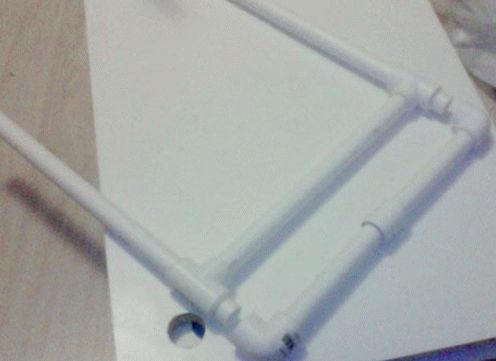Этажерка своими руками из пластиковых труб