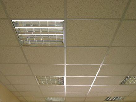 Смонтированный подвесной потолок