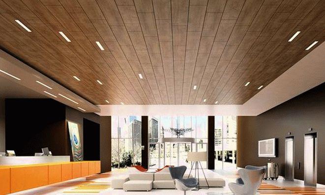 Использование ламината для отделки потолка