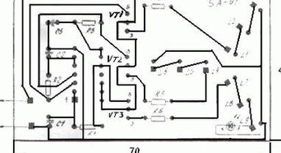 Печатная плата для монтажа схемы гирлянды