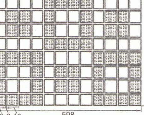 Ковер из керамических плиток для мозаичных полов