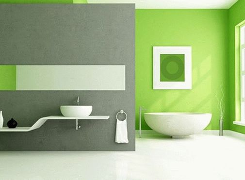 Цвет свежей зелени в ванной комнате
