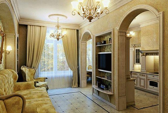 Классический стиль для маленькой гостиной