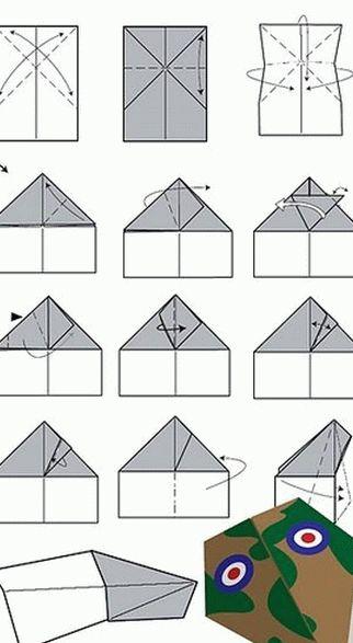Как сложить самолетик из бумаги (варианты, схемы)