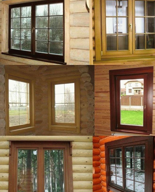 Фото окон в деревянном доме