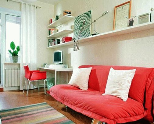Amazing-Study-Room-Models-Red-Sofa-White-Interior-Marble-Floor-805x650