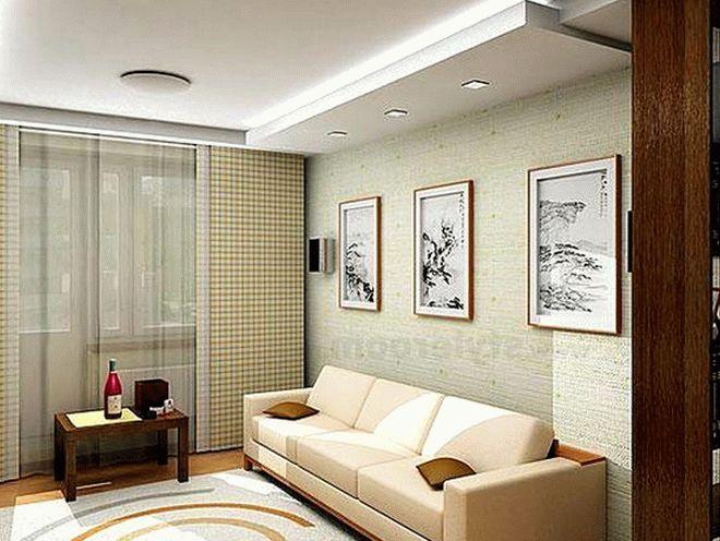 Дизайн гостиной в хрущевке2