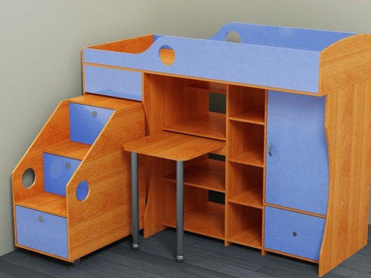 Компактная кровать-чердак