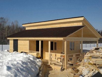 Фото строительства маленькой деревянной сауны