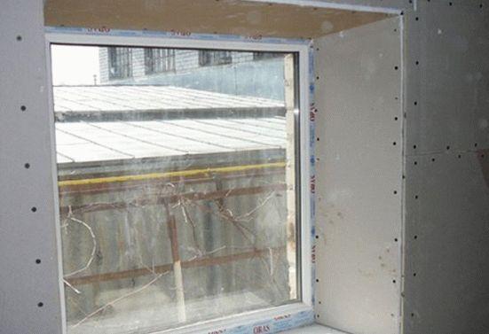 Гипсокартонные откосы на окнах