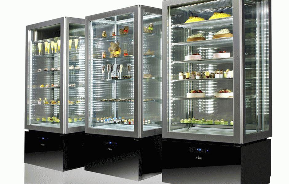 Стеклянные холодильные шкафы