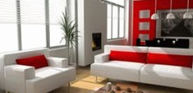 Marvellous-red-white-apartment-living-room-with-wooden-floor-and-red-wall-ideas-615x300