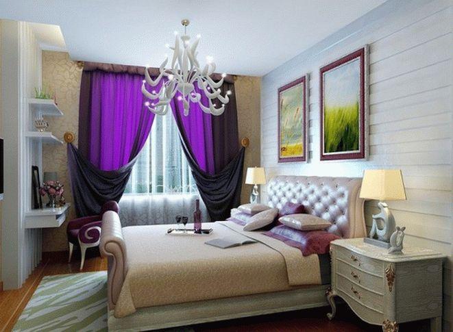 Классические шторы для спальни: фото