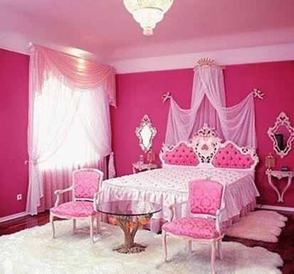 бело-розовый интерьер 46