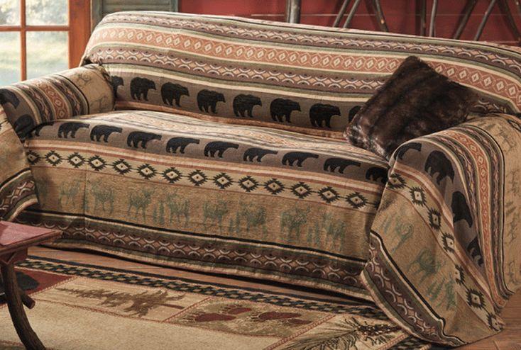 Декорирование дивана покрывалом