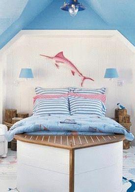 детская комната в морском стиле 03