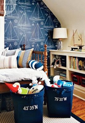 детская комната в морском стиле 23