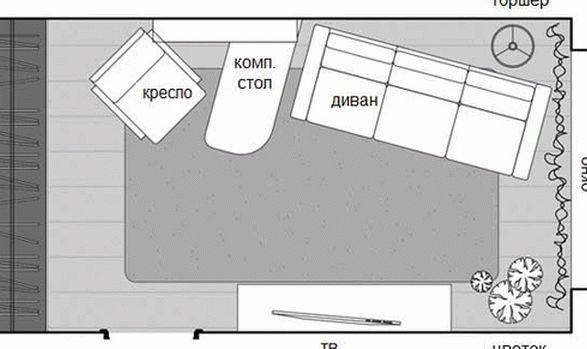 дизайн однокомнатной квартиры холостяка фото4