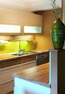 дизайн интерьер маленькой кухни 41