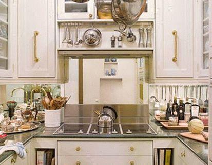 дизайн интерьер маленькой кухни 62
