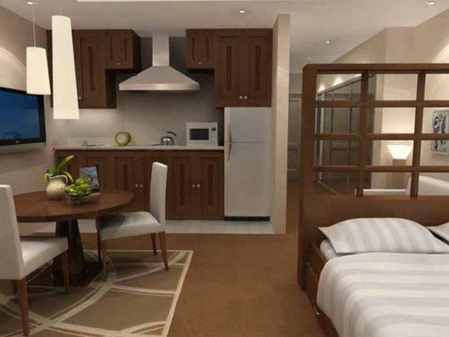 Спальня-гостиная с изолированной кухней 1
