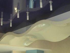 двухуровневые потолки фото 1