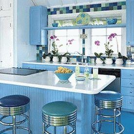 голубая кухня 31