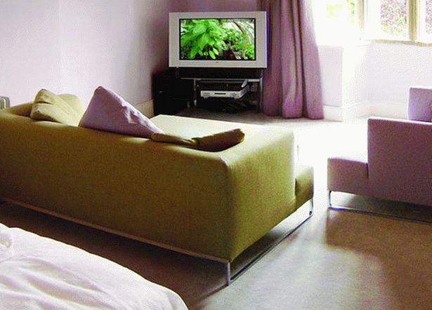 гостиная и спальня в одной комнате 27
