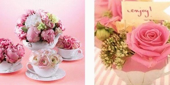 модное украшение интерьера - цветы в чашках фото3