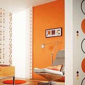 оранжевые стены фото 14