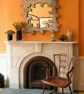 оранжевые стены фото 15