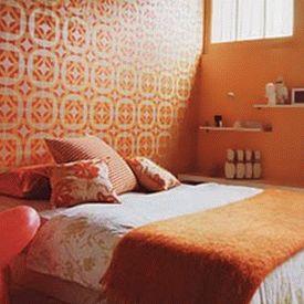 оранжевые стены фото 23