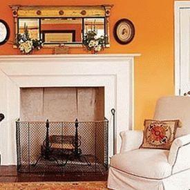 оранжевые стены фото 24