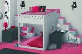 розовый цвет в детской комнате для девочки 006
