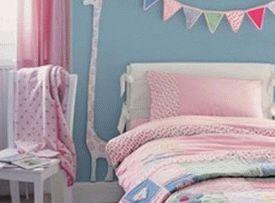 розовый цвет в детской комнате для девочки 007