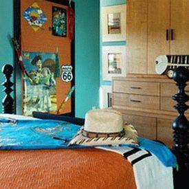 сочетание голубого и оранжевого 03
