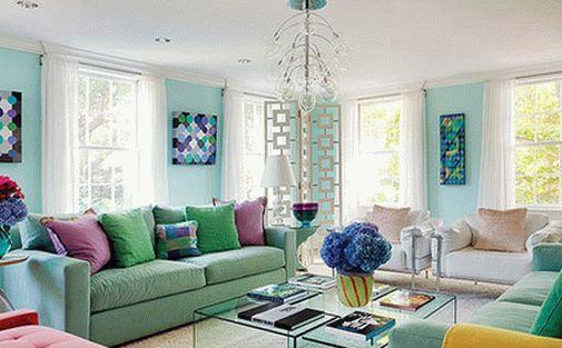 Использование пастельных цветов в интерьере гостиной