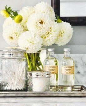 цветы в ванной комнате 12