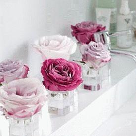 цветы в ванной комнате 14
