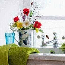 цветы в ванной комнате 25