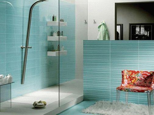 Бирюзовый цвет в интерьере ванны