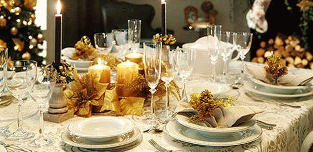 украшение новогоднего стола 13