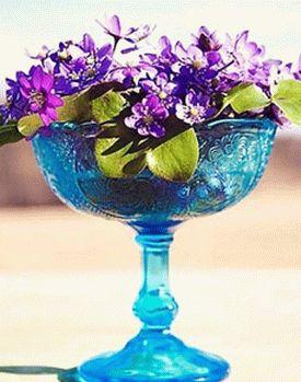 украшение стола композициями из цветов 04