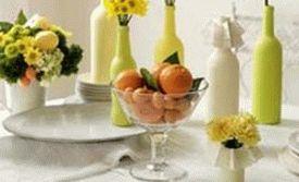 украшение стола композициями из цветов 12