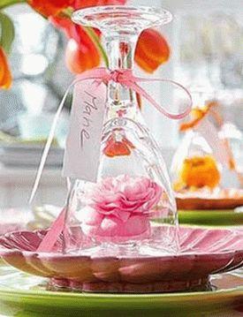 украшение стола композициями из цветов 16