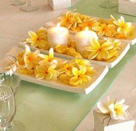 украшение стола цветами и свечами фото11