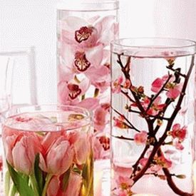 украшение стола цветами и свечами фото21