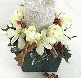 украшение стола цветами и свечами фото6