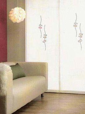 японские шторы фото 8