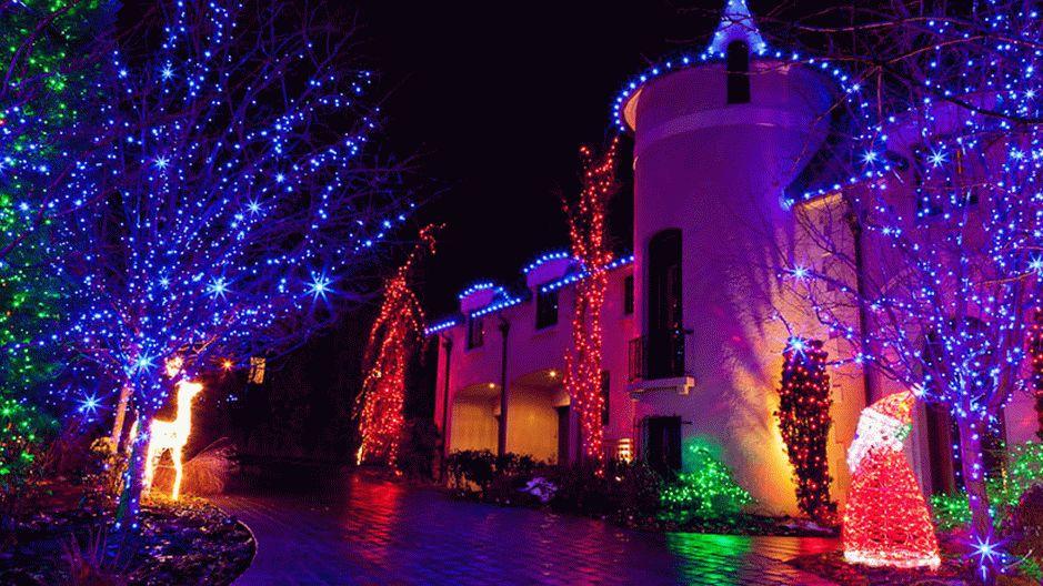 Оформление дома светодиодными гирляндами